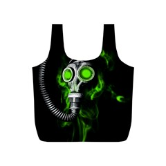 Gas Mask Full Print Recycle Bags (s)  by Valentinaart