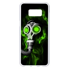 Gas Mask Samsung Galaxy S8 Plus White Seamless Case by Valentinaart