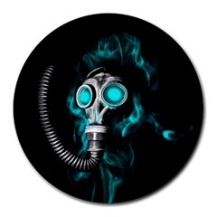 Gas Mask Round Mousepads