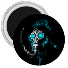 Gas Mask 3  Magnets by Valentinaart