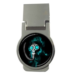 Gas Mask Money Clips (round)