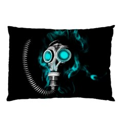 Gas Mask Pillow Case by Valentinaart