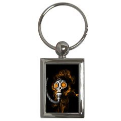 Gas Mask Key Chains (rectangle)  by Valentinaart