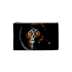 Gas Mask Cosmetic Bag (small)  by Valentinaart