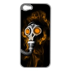 Gas Mask Apple Iphone 5 Case (silver) by Valentinaart