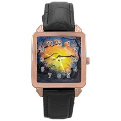 Soul Offering Rose Gold Leather Watch  by Dimkad