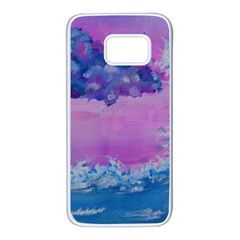 Rising To Touch You Samsung Galaxy S7 White Seamless Case by Dimkad