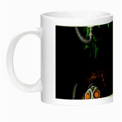 Gas Mask Night Luminous Mugs by Valentinaart