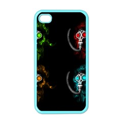 Gas Mask Apple Iphone 4 Case (color) by Valentinaart