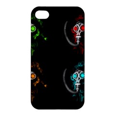 Gas Mask Apple Iphone 4/4s Premium Hardshell Case by Valentinaart