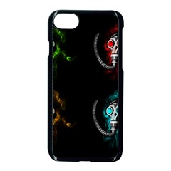 Gas Mask Apple Iphone 7 Seamless Case (black) by Valentinaart