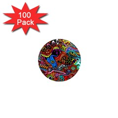 Art Color Dark Detail Monsters Psychedelic 1  Mini Magnets (100 Pack)