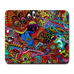 Art Color Dark Detail Monsters Psychedelic Large Mousepads by BangZart