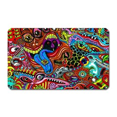 Art Color Dark Detail Monsters Psychedelic Magnet (rectangular)