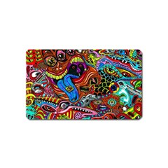 Art Color Dark Detail Monsters Psychedelic Magnet (name Card) by BangZart