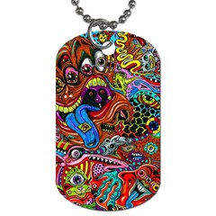 Art Color Dark Detail Monsters Psychedelic Dog Tag (two Sides) by BangZart