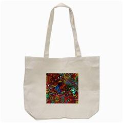 Art Color Dark Detail Monsters Psychedelic Tote Bag (cream) by BangZart