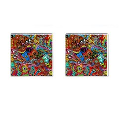 Art Color Dark Detail Monsters Psychedelic Cufflinks (square)