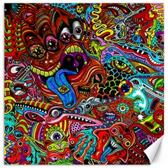 Art Color Dark Detail Monsters Psychedelic Canvas 20  X 20   by BangZart