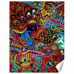Art Color Dark Detail Monsters Psychedelic Canvas 18  X 24   by BangZart