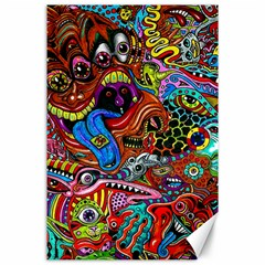 Art Color Dark Detail Monsters Psychedelic Canvas 24  X 36  by BangZart