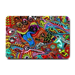 Art Color Dark Detail Monsters Psychedelic Small Doormat  by BangZart