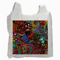 Art Color Dark Detail Monsters Psychedelic Recycle Bag (one Side)