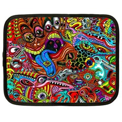 Art Color Dark Detail Monsters Psychedelic Netbook Case (xl)  by BangZart