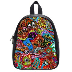 Art Color Dark Detail Monsters Psychedelic School Bags (small)  by BangZart