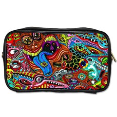 Art Color Dark Detail Monsters Psychedelic Toiletries Bags 2 Side by BangZart
