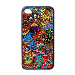 Art Color Dark Detail Monsters Psychedelic Apple Iphone 4 Case (black) by BangZart