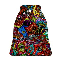 Art Color Dark Detail Monsters Psychedelic Bell Ornament (two Sides) by BangZart