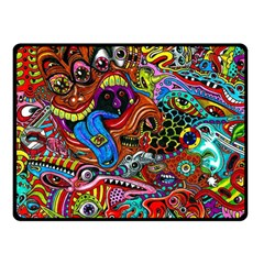 Art Color Dark Detail Monsters Psychedelic Double Sided Fleece Blanket (small)