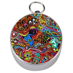 Art Color Dark Detail Monsters Psychedelic Silver Compasses by BangZart