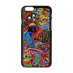Art Color Dark Detail Monsters Psychedelic Apple Iphone 6/6s Black Enamel Case by BangZart