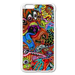 Art Color Dark Detail Monsters Psychedelic Apple Iphone 6 Plus/6s Plus Enamel White Case