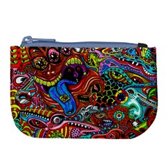 Art Color Dark Detail Monsters Psychedelic Large Coin Purse by BangZart