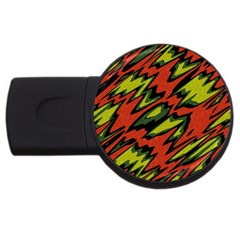 Distorted Shapes                           Usb Flash Drive Round (4 Gb) by LalyLauraFLM