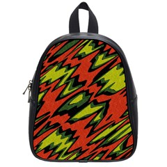 Distorted Shapes                           School Bag (small) by LalyLauraFLM