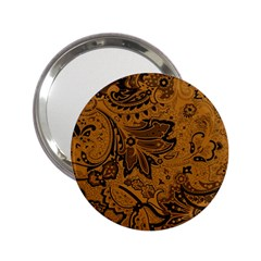 Art Traditional Batik Flower Pattern 2 25  Handbag Mirrors