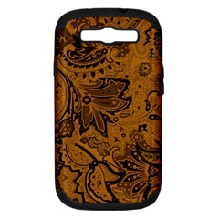 Art Traditional Batik Flower Pattern Samsung Galaxy S Iii Hardshell Case (pc+silicone) by BangZart