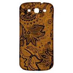 Art Traditional Batik Flower Pattern Samsung Galaxy S3 S Iii Classic Hardshell Back Case by BangZart