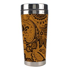 Art Traditional Batik Flower Pattern Stainless Steel Travel Tumblers by BangZart