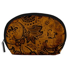 Art Traditional Batik Flower Pattern Accessory Pouches (large)  by BangZart
