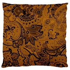 Art Traditional Batik Flower Pattern Large Flano Cushion Case (one Side)