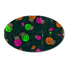 Abstract Bug Insect Pattern Oval Magnet by BangZart