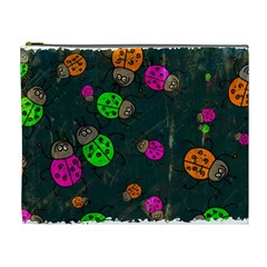 Abstract Bug Insect Pattern Cosmetic Bag (xl) by BangZart