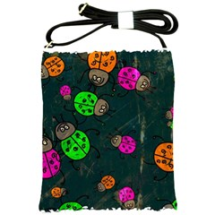 Abstract Bug Insect Pattern Shoulder Sling Bags by BangZart