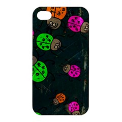 Abstract Bug Insect Pattern Apple Iphone 4/4s Premium Hardshell Case
