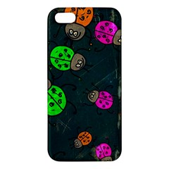 Abstract Bug Insect Pattern Apple Iphone 5 Premium Hardshell Case by BangZart
